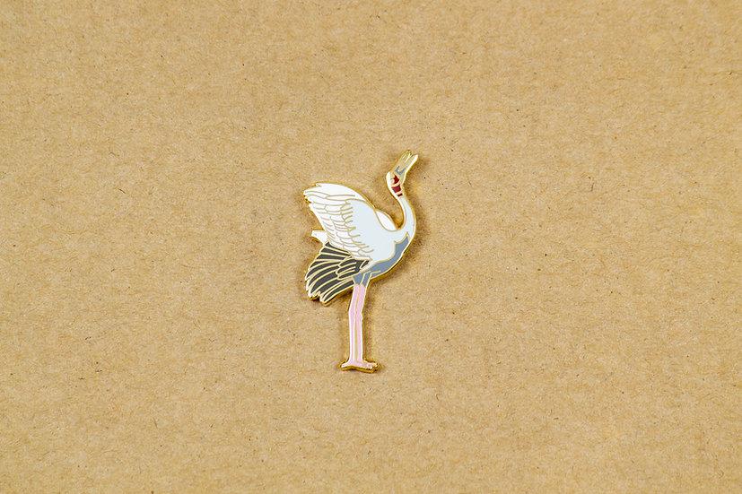 Saras Crane Lapel Pin