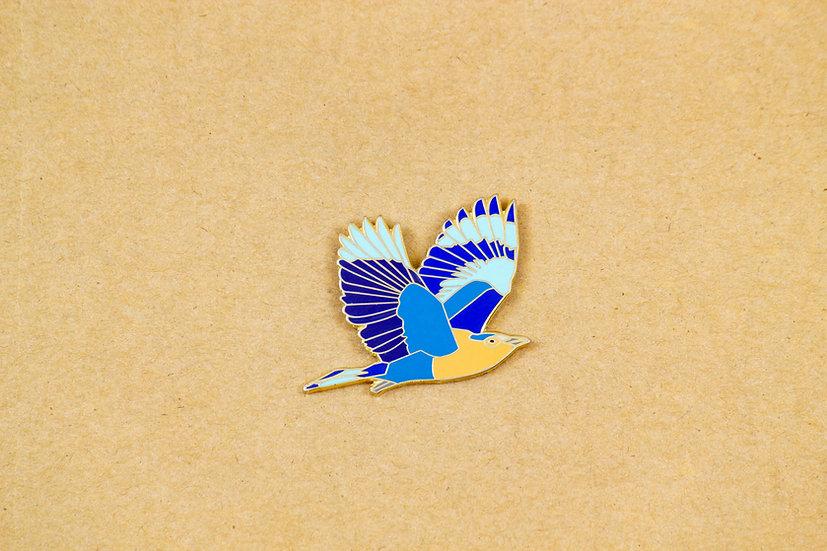 Indian Roller Lapel Pin