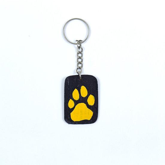 Tiger Pugmark Bamboo Keychain - WRCS