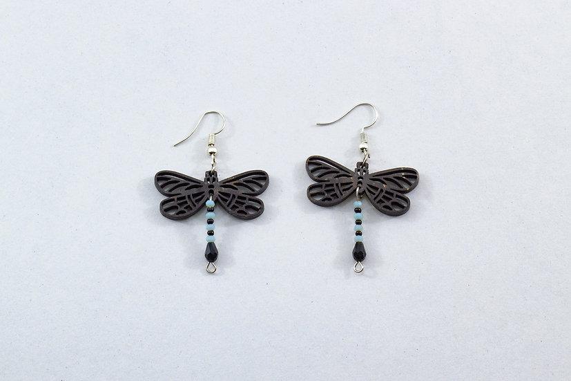 Dragonfly Coconut Shell Earrings