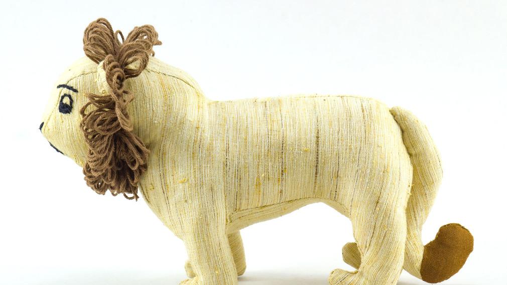 Ashok, the Asiatic Lion Khadi Soft Toy 3 side view