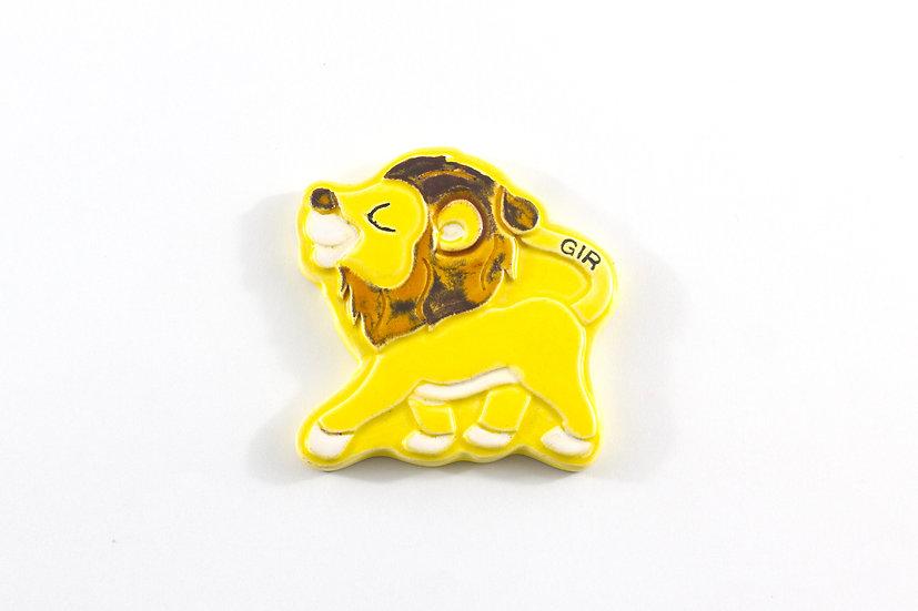 Asiatic Lion Ceramic Magnet