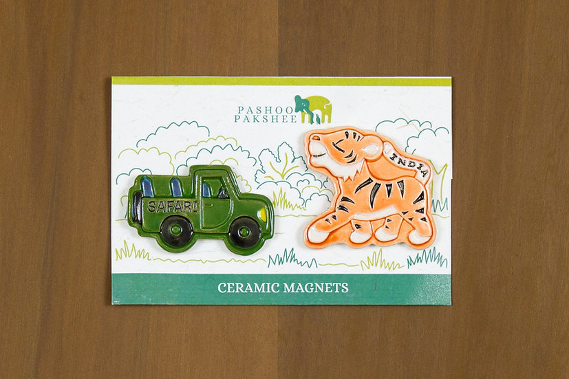 Tiger Safari Ceramic Magnet Set