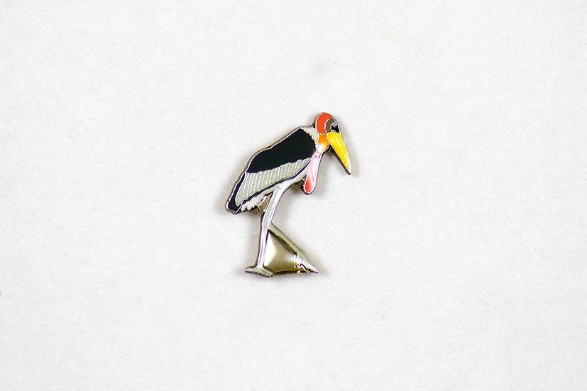 Greater Adjutant Stork Lapel Pin - Hargila Army