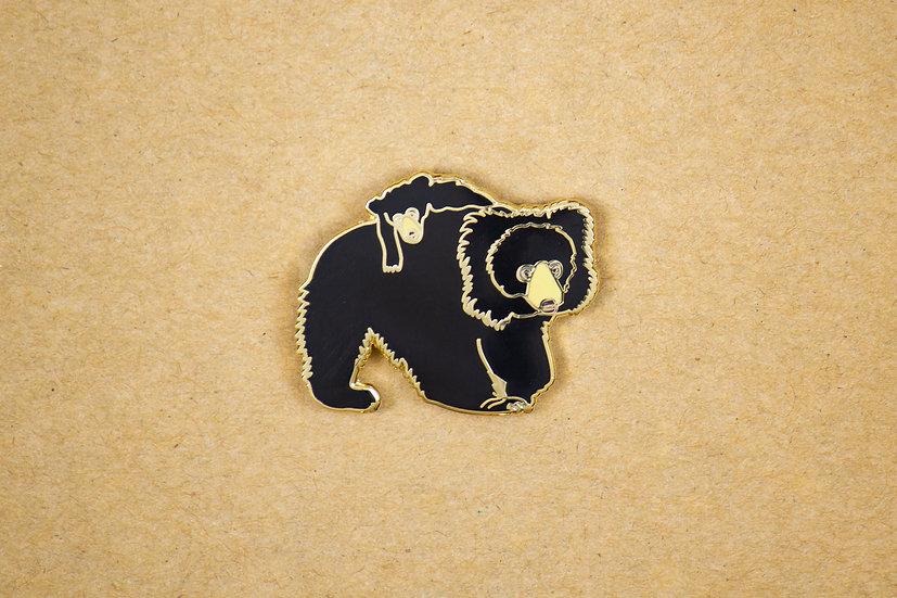 Sloth Bear Lapel Pin