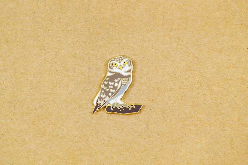 Spotted Owlet Lapel Pin