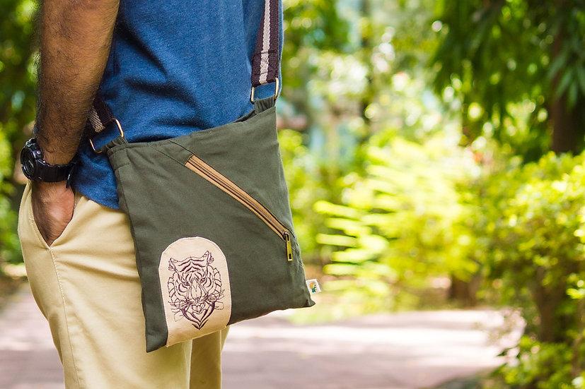 Tiger Face Small Messenger Bag