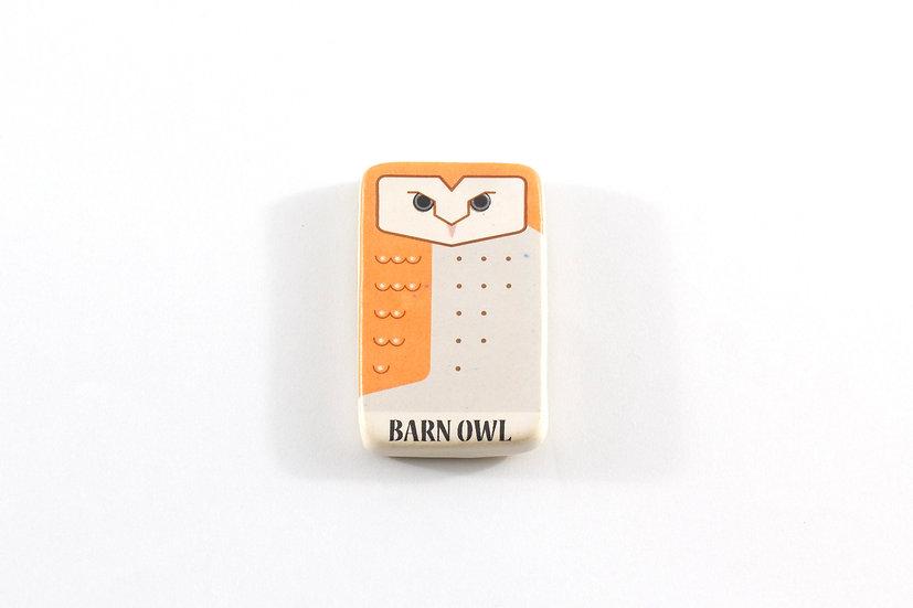 Barn Owl Ceramic Magnet