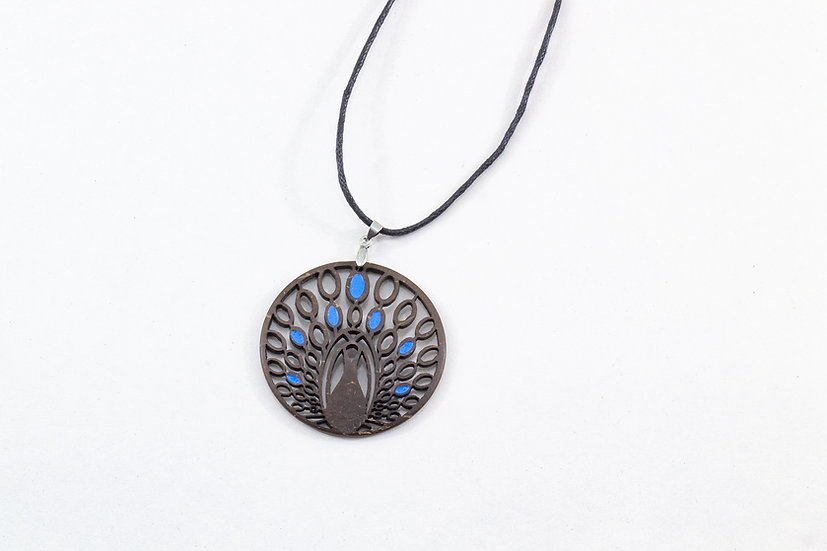 Peacock Coconut Shell Pendant