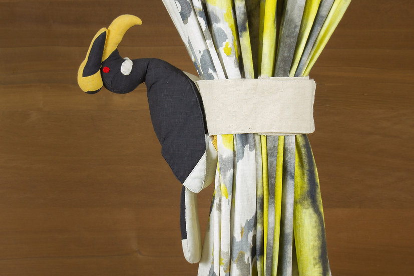 Malabar Pied Hornbill, Curtain Holder