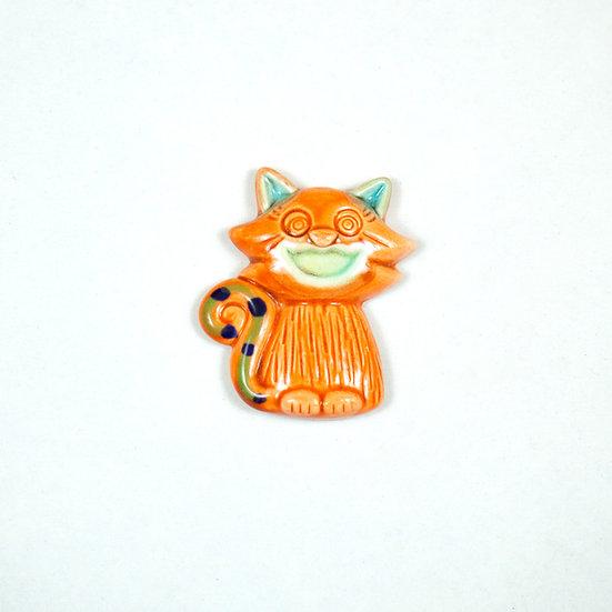 Smiling Cat Ceramic Magnet