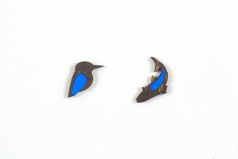 King-Fisher Coconut Shell Earrings