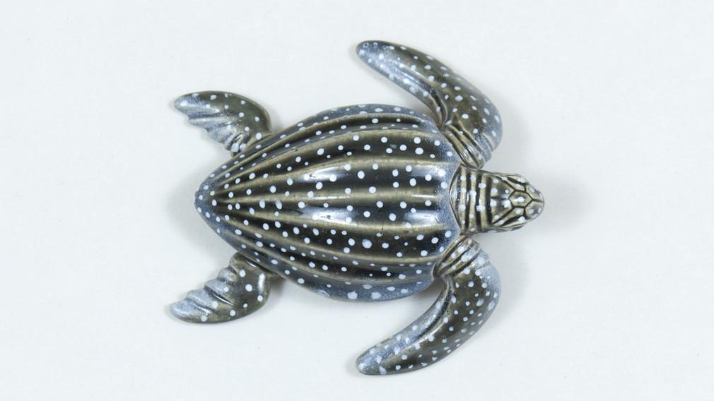 Leatherback Sea Turtle Ceramic Curio Top View