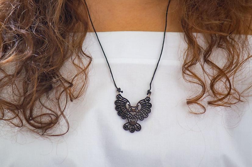 Owl Coconut Shell Pendant