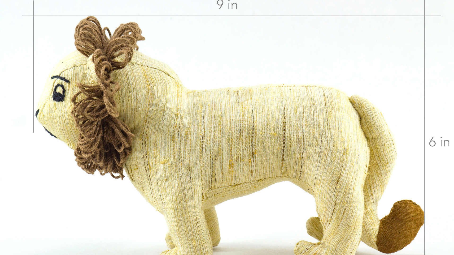 Ashok, the Asiatic Lion Khadi Soft Toy dimensions