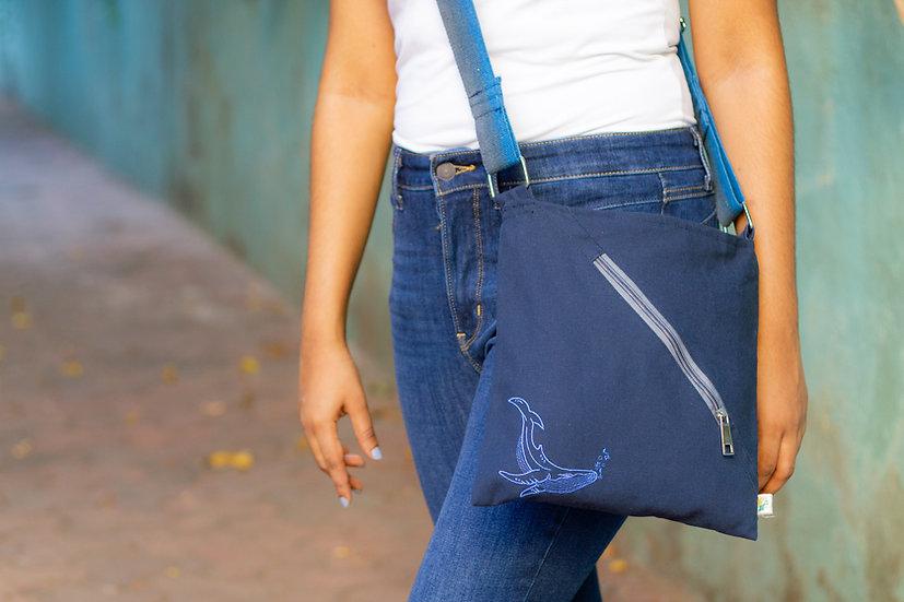 Blue Whale Small Messenger Bag