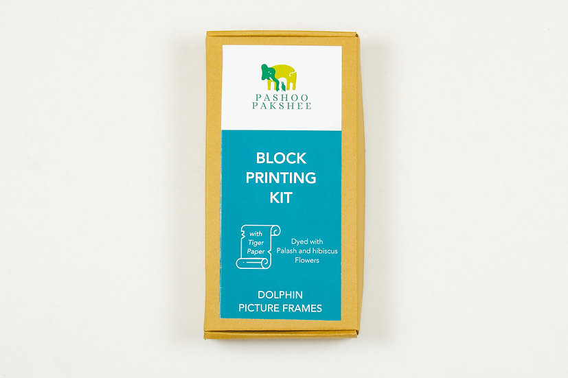 Dolphin Picture Frames Block Printing Kit
