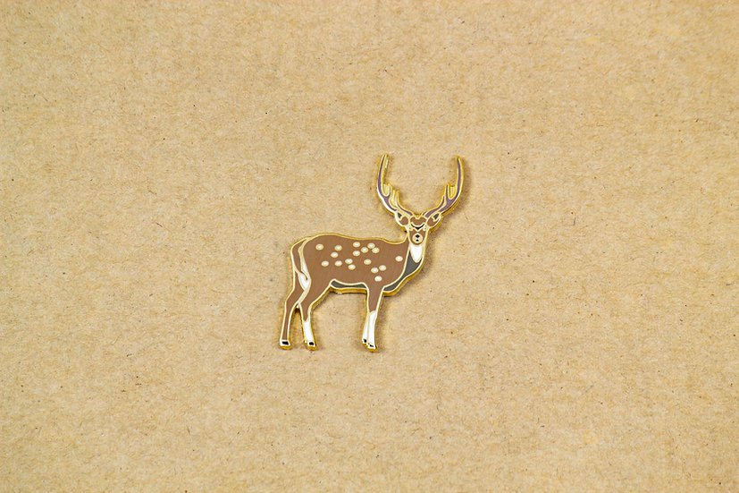 Spotted Deer Lapel Pin