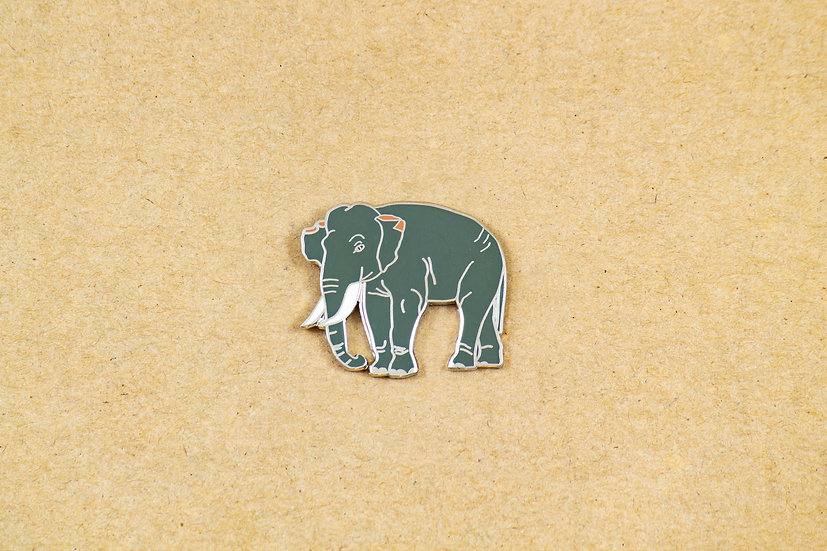 Indian Elephant Lapel Pin