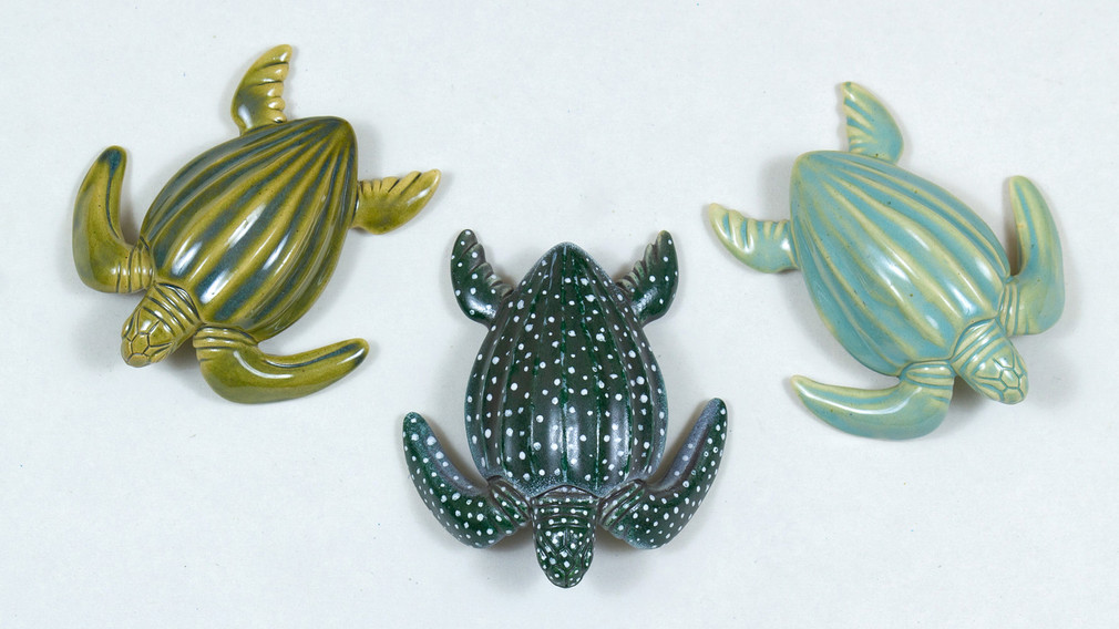 Leatherback Sea Turtle Ceramic Curio Colours