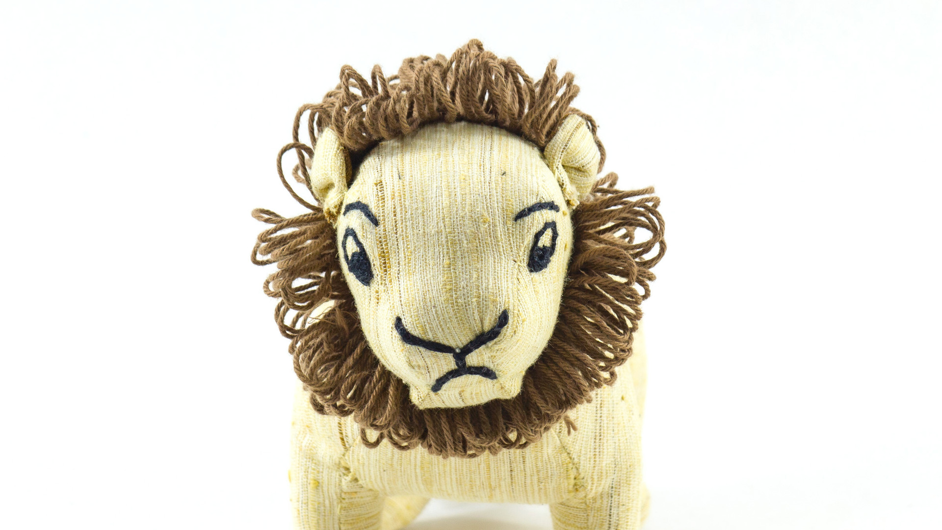 Ashok, the Asiatic Lion Khadi Soft Toy 3 front view