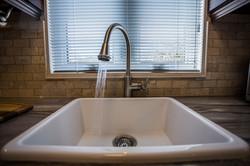 White Single sink drop in