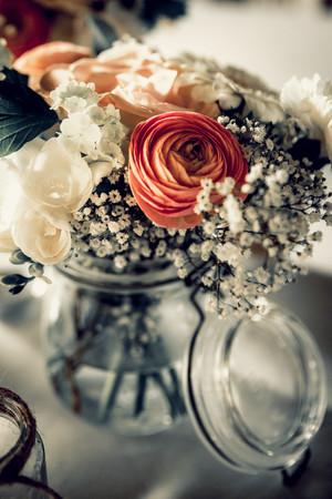 weeding table flowers.JPG