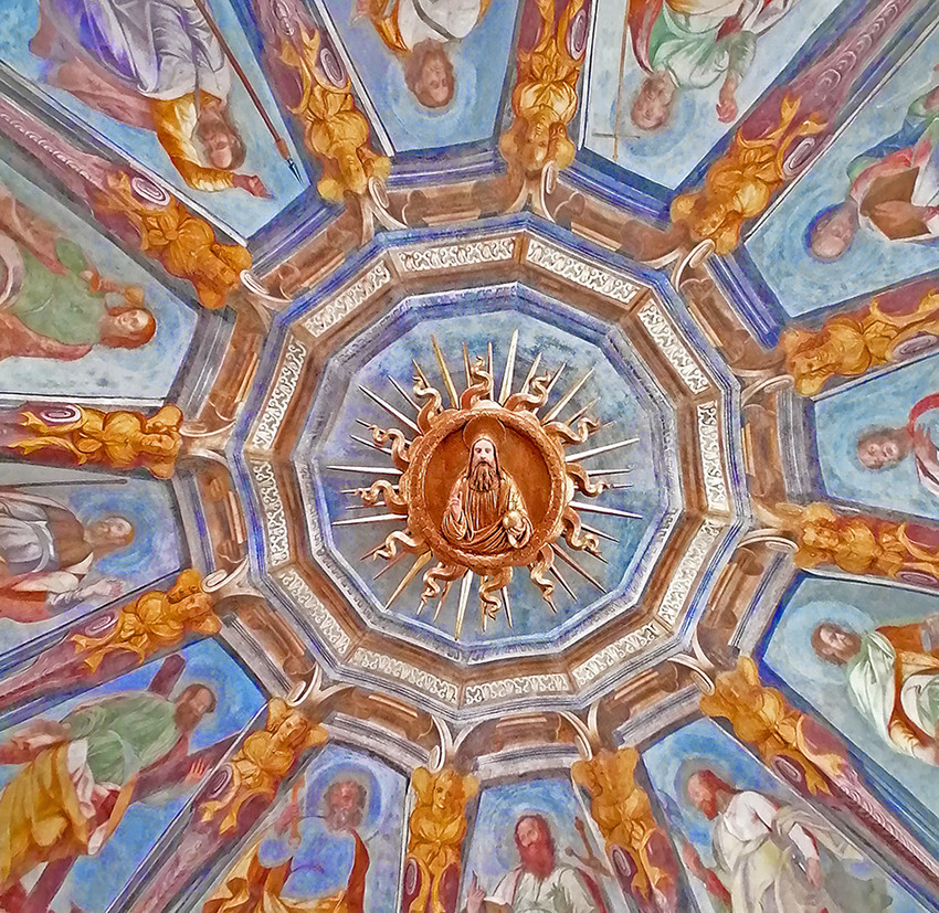 ceiling of Santa Maria alla Fontana