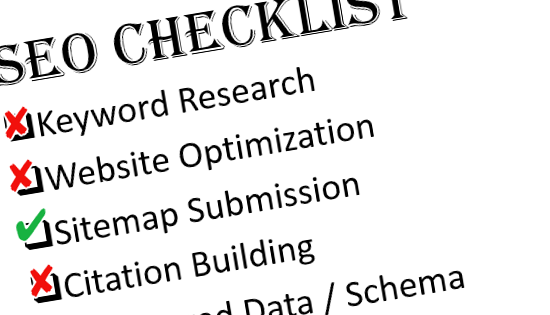 Partial screenshot of our internal website SEO checklist