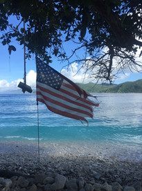 Stars & Stripes flying in Aunu'u