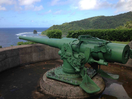 WWII Blunts Point Naval Guns