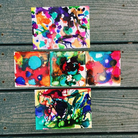 Kids Class: Fun with Alcohol Inks