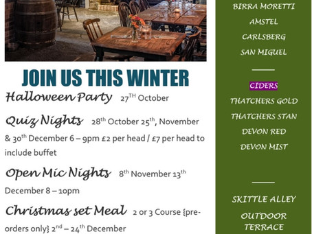 Check out what's happening @ The Lamb & Flag Blagdon this Winter