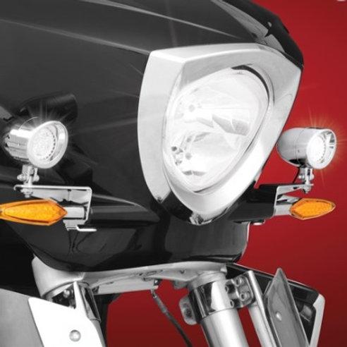 XC Chrome Mini LED Driving Lights kit with Brackets