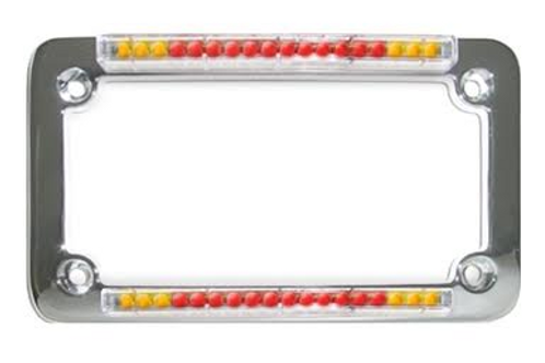 Back Off LED Plate Frame with Brake Light and Turn Signals!