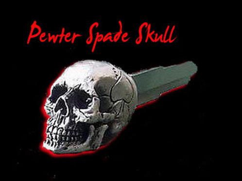 Pewter Spade Skull