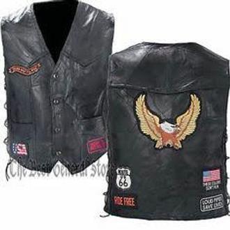 Buffalo Leather Patch Vest