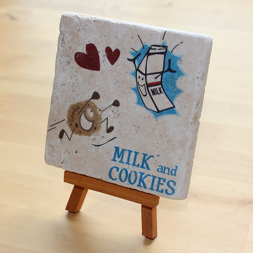 Milk and Cookies Desktop tile art
