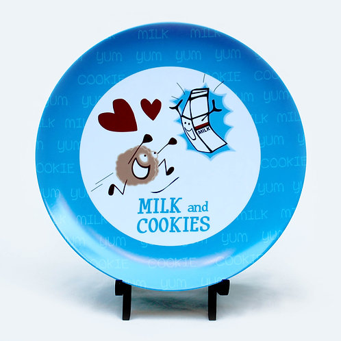 Milk and Cookies Melamine Plate