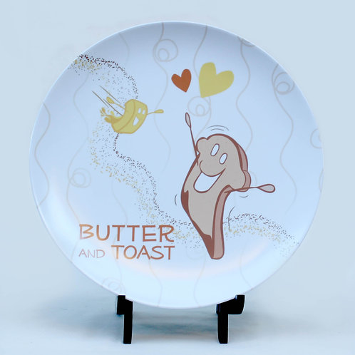 Butter and Toast Melamine Plate