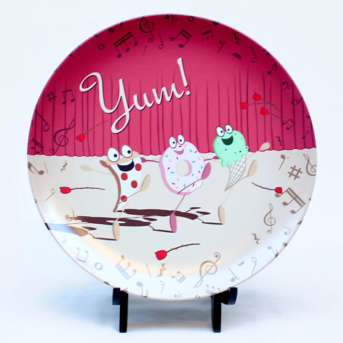 Children's Melamine Plate Dancing Food