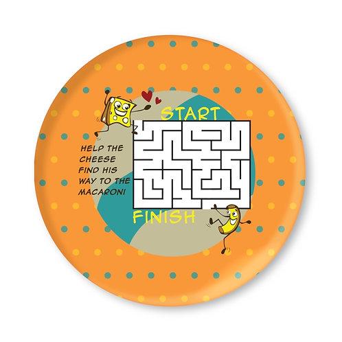 Macaroni and Cheese Maze Children's Melamine Plate