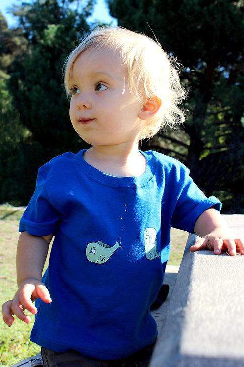 Smells Fishy Blue Infant bodysuit/onesie or Tshirt