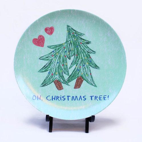 Oh Christmas Tree Melamine Plate