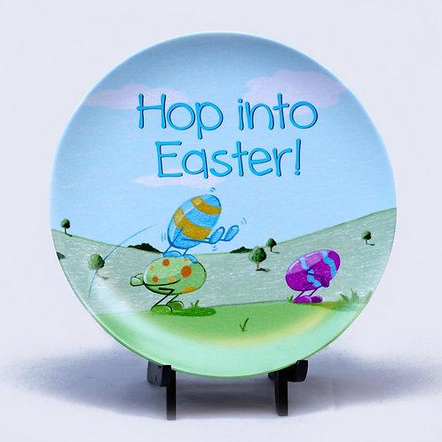 Hop Into Easter Melamine Plate
