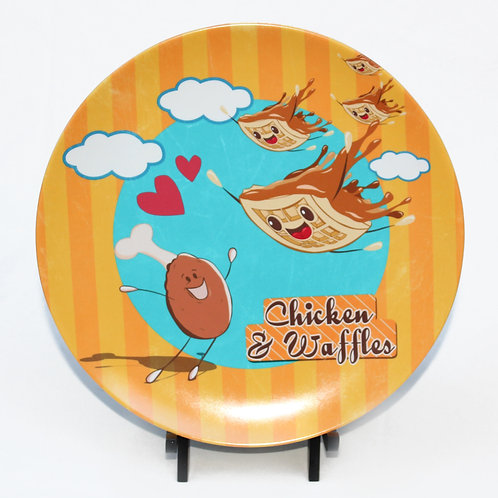 Chicken and Waffles Melamine Plate