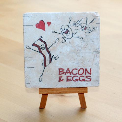 Bacon and Eggs Desktop Tile Art