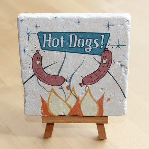 Hot Dogs on a Stick Desktop Tile Art