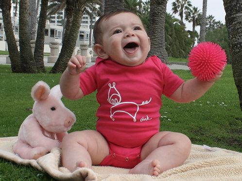 Pig pink infant bodysuit/onesie or Tshirt