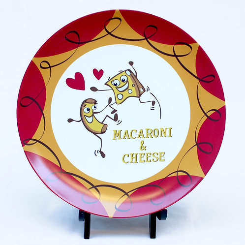 Macaroni and Cheese Melamine Plate